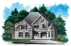 New American House Plan with 3228 Square Feet and 5 Bedrooms(s) from Dream Home Source | House Plan Code DHSW18661