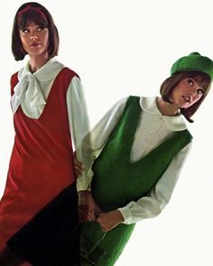 "Colleen Corby (""Seventeen"" magazine - My mother sewed and made me jumpers just like these! 60s And 70s Fashion, Seventies Fashion, Teen Fashion, Retro Fashion, Fashion Show, Vintage Fashion, Colleen Corby, 1960s Outfits, Vintage Outfits"