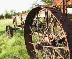 Old abandoned farm equipment