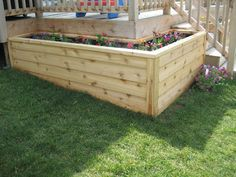 Decking planter box North Canterbury Raised Gardens Pinterest