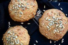 Housky se slunečnicovými semínky Lchf, No Bake Cake, Muffin, Low Carb, Baking, Breakfast, Fat, Recipes, Bakken