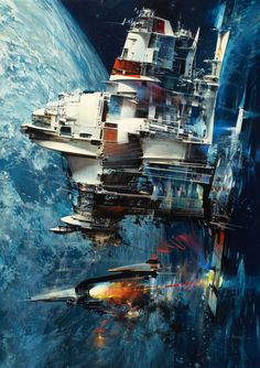 70s Sci-Fi Art: moonzerotwo: Lightship - John Berkey