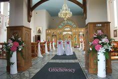 dekoracja cerkwi kościoła na ślub Człuchów