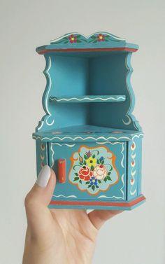 Vintage 60's Lundby Dora Kuhn Blue Corner Cabinet (Dollhouse Furniture) Folk | eBay