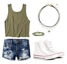 """Untitled #9"" by monicapareja on Polyvore featuring Converse, American Eagle Outfitters and Hollister Co."