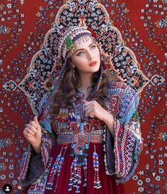 Get this beautiful Vintage Kuchi Red Dress from our store Arab Fashion, Muslim Fashion, Girl Fashion, Fabulous Dresses, Stylish Dresses, Traditional Fashion, Traditional Dresses, Afghani Clothes, Idda Van Munster