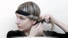 Trade Secrets - How to curl your hair using a Bohemian headband, via YouTube.