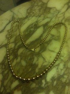 Vintage Krementz Signed 14k Gold Overlay Necklace  #krementz