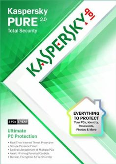 Kaspersky Pure - 3 Users - - Product Description: Ultimate PC Protection for Your Home The new Kaspersky PURE interface is incredibly easy-to-use and gi Security Certificate, Utility Services, Security Suite, Security Companies, Parental Control, Computer Security, Web Development, Lab