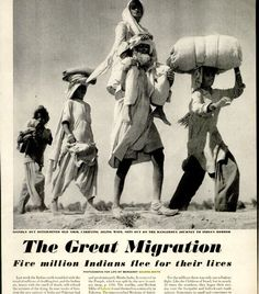 South Asia ©: Bint photoBooks on INTernet: The Great Migration India Pakistan 1947 Life Magazine Margaret Bourke-White Sunil Janah Photojournalism Photogr. History Of Pakistan, India And Pakistan, 1947 India, Pakistan Independence Day, Margaret Bourke White, The Great Migration, India Facts, Asia, Republic Day