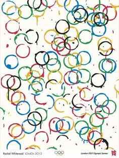 Cool idea for an Olympic rings poster stamped with a paper towel roll #BabyCenterBlog #WinterOlympics2014
