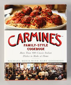 One of mine and Nana's favorite restaurants in NYC!!! Take a look at this Carmine's Family-Style Cookbook Hardcover on zulily today!
