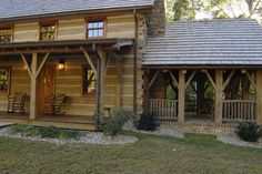 Central Kentucky Log Cabin Primitive Kitchen - traditional - exterior - louisville - The Workshops of David T. Primitive Homes, Primitive Kitchen Decor, Log Cabin Living, Log Cabin Homes, Log Cabins, Barn Homes, Kentucky, Log Cabin Christmas, Log Home Decorating