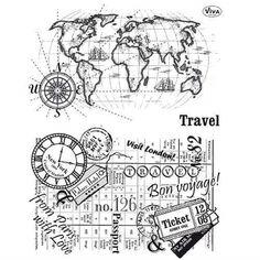Viva Decor - Travel (have) Souvenir Display, Mix Media, Bullet Journal Ideas Pages, Travel Scrapbook, Digi Stamps, Travelers Notebook, Clear Stamps, Scrapbooks, Stencils