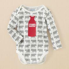 newborn - outfits - he's talkin' - milk cow talker bodysuit | Children's Clothing | Kids Clothes | The Children's Place