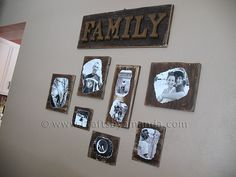 Come see how I turned scrap pieces of wood into photo plaques worthy of the living room wall!
