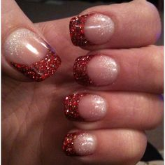 I think it would be cute to do just one nail like this and all the other just white tips
