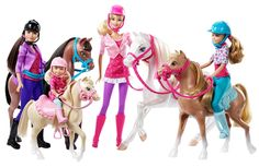 Barbie & Her Sisters are practicing with their ponies for the race! #BarbiesFavorites