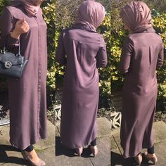 "9 Likes, 2 Comments - Allure.Abayas (@allure_abayas) on Instagram: ""Amazing mocha shirt dress with hidden buttons comes in size 6 8 and 12 @ £20"""