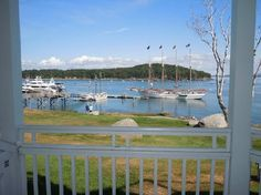 The actual Harbor in Bar Harbor.