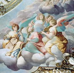 Camillo Procaccini (1560-1629) Detail of angel musicians from the vault of the choir.