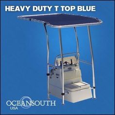 Heavy-Duty-Premium-Boat-T-Top-Blue-For-Standard-Center-Console-aluminum-tube