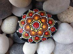 Hand Painted Mandala Dot Stone
