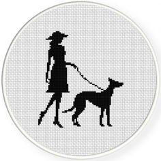 Lady and her Dog Illustraition