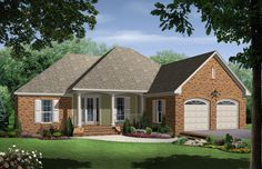 HPG-1750B-1-The Mulberry Lane is a 2515 sq. ft./ 3 bedroom/ 2 bath house plan that you can purchase for $750.00 and view online at http://www.houseplangallery.com/HPG-1750B-1.