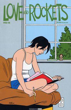 Issue 14 Vol. 2 cover art Jaime Hernandez