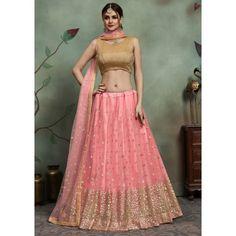 We offer latest lehenga choli designs and designer lehenga choli. Shop now! This net pink trendy lehenga choli. Pink Lehenga, Net Lehenga, Bridal Lehenga Choli, Indian Lehenga, Choli Dress, Pakistani, Sabyasachi Lehenga Cost, Dulhan Dress, Lehenga Wedding