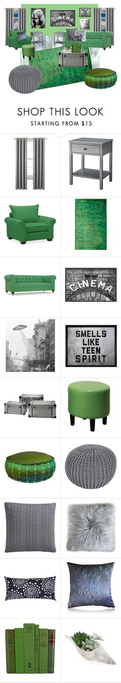 """Emerald"" by mo-g-v ❤ liked on Polyvore featuring interior, interiors, interior design, home, home decor, interior decorating, Liz Claiborne, Threshold, Pottery Barn and Hatcher & Ethan"