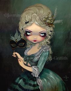 Marie Masquerade french queen antoinette fairy art print by Jasmine Becket-Griffith12x16 BIG. $29.99, via Etsy.