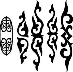 Очень надеюсь, что ещё не вынесла вам мозг своими трафаретами. Ещё полна моя коробочка Stencil Patterns, Stencil Designs, Applique Patterns, Print Patterns, Stencils, Scroll Design, Leather Pattern, Art Deco Design, Wood Carving