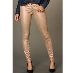 Lucky Shimmer Skinny Pants Lucky Brand Pink (blush) Shimmer Charlie Skinny jeans/pants. Size 2 (size 26) Ankle. Worn twice. Please send reasonable offers through offer button! Lucky Brand Pants Skinny
