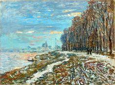 Amantes del Arte   Claude Monet, El paseo de Argenteuil, una tarde de invierno, 1875. Óleo sobre lienzo, 59 x 79 cm, Colección particular