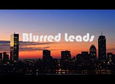 Blurred Leads, MKTGnerd style. Funny marketing video. Business Performance, Blur, Engineering, Marketing, Funny, Style, Swag, Funny Parenting, Technology