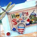Happy Summer free cross stitch pattern from BrookesBooksPublishing