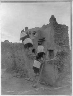 Walpi Homes, Hopi.1907.