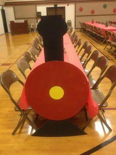 Train Tables   25+ Polar Express Party Ideas