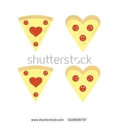 A set of pizza icons