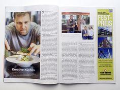 Artikel über Hamburgs Caterer im Magazin der Handelskammer Hamburg; Hamburger…