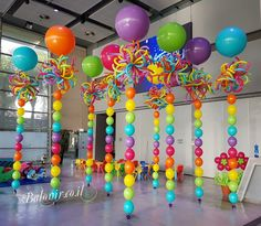 Balloon ornament 🎈 - New Deko Sites Balloon Columns, Balloon Garland, Balloon Arch, Balloon Ideas, Ballon Decorations, Birthday Party Decorations, Birthday Parties, Outdoor Decorations, Deco Ballon