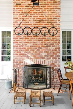 Outdoor Fireplace on