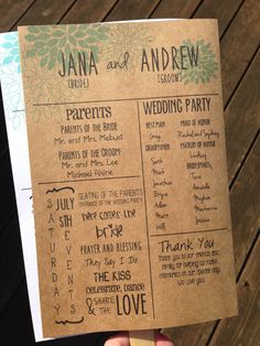 Personalized Wedding Program Fan with love Story and Fun Facts by InStyleInSpirations, $50.00