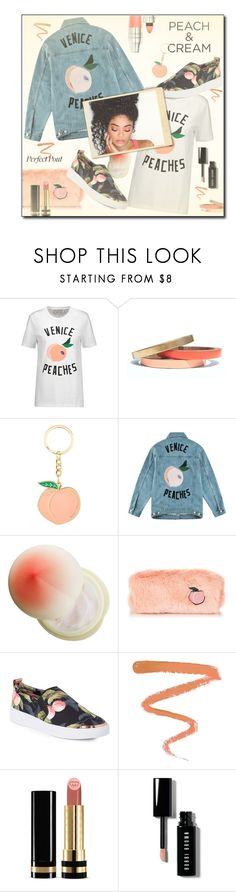 """""""She's a Peach: 🍑 Lipstick 💋"""" by fashionlibra84 ❤ liked on Polyvore featuring beauty, Être Cécile, Voz Collective, Tony Moly, Ted Baker, Ellis Faas, Gucci, Bobbi Brown Cosmetics and Lancôme"""