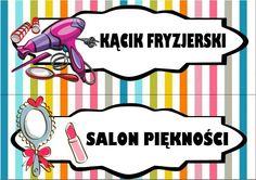 Kącik fryzjerski i salon piękności Polish Language, Classroom Decor, Diy And Crafts, Preschool, Clip Art, Teacher, Family Guy, Education, Starters