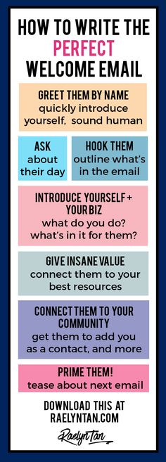 Wonderlass entrepreneur online business tips allisonruiz on how to write the perfect welcome email printable template included fandeluxe Gallery