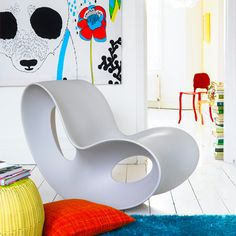 Bright bold colours and love the chair