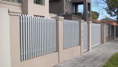 Creative Lightweight Solution Rendered Walling, Fencing | Townhouse Projects Adelaide